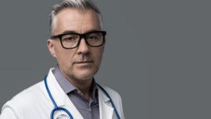 Doctor-in-white-coat